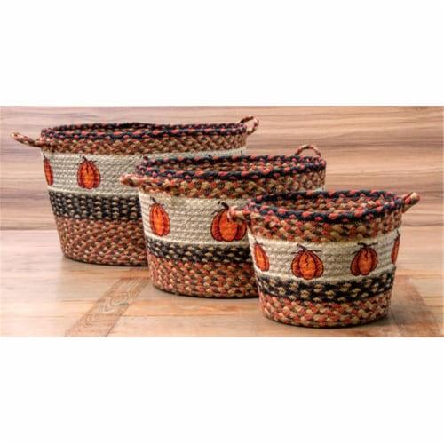 36-UBP222HPSM Small Printed Utility Basket, Harvest Pumpkin Perspective: front