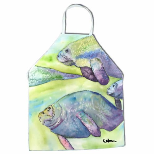 Manatee Apron - 27 x 31 in. Perspective: front