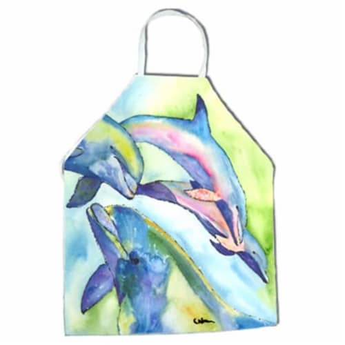 Dolphin Apron - 27 x 31 in. Perspective: front