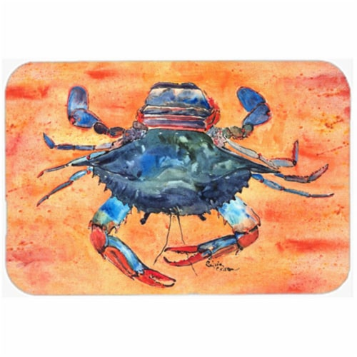Crab Glass Cutting Board - Large Perspective: front