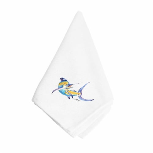 Blue Marlin Napkin Perspective: front