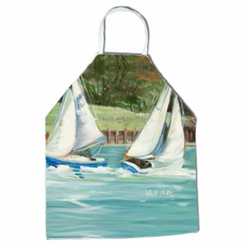 Boats On The Bay Sailboats Apron Perspective: front
