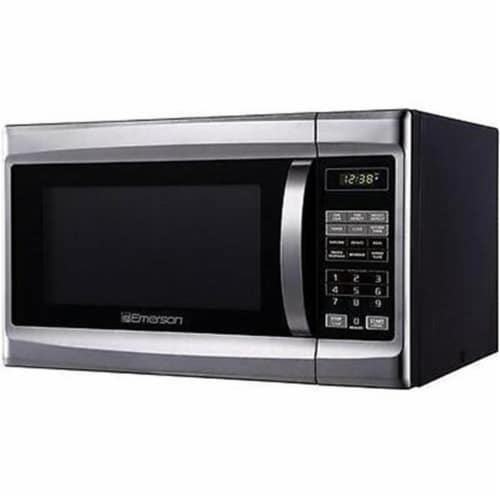 1.3 cu ft. Microwave Oven Stainless Steel Perspective: front