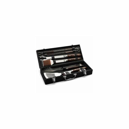 10-Piece Premium Grilling Tool Set Perspective: front