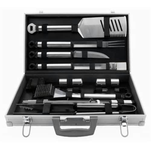 Silver Prestige 21 Piece Tool Set with Aluminum Case Perspective: front