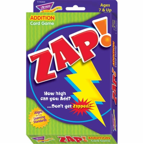 Zap Addition Card Game Perspective: front