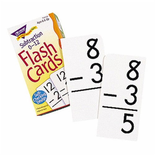 Flash Cards Subtraction 0-12-91/Box Perspective: front