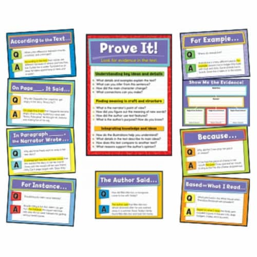 Evidence Based Reading & Writing Bulletin Board Set Perspective: front