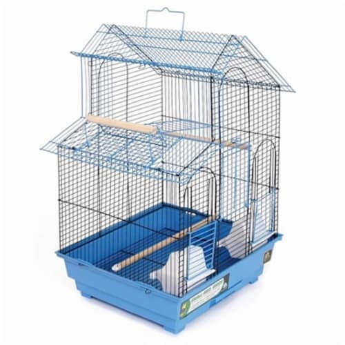House Style Bird Cage - Blue Perspective: front