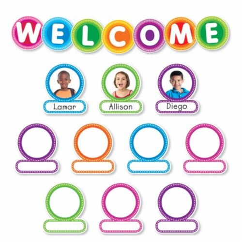 Color Your Classroom Welcome Bulletin Board Set Perspective: front