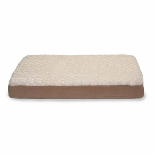Ultra Plush Deluxe Ortho Mat - Cream  Medium Pet Bed Perspective: front