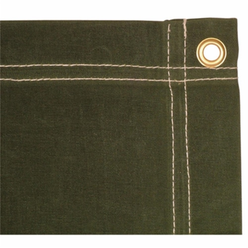 4 x 6 ft. Canvas Tarp - Olive Drab Perspective: front