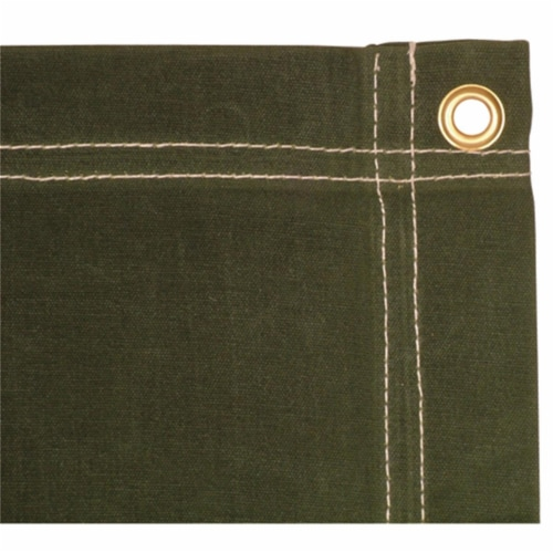 5 x 7 ft. Canvas Tarp - Olive Drab Perspective: front