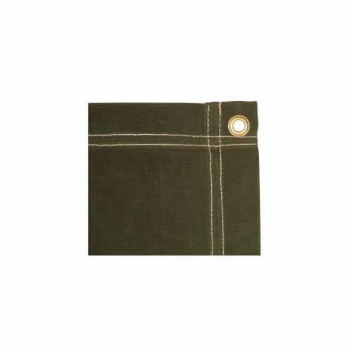 8 x 20 ft. Canvas Tarp - Olive Drab Perspective: front