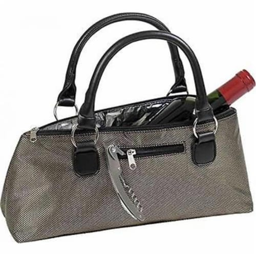 Black Gold Sassy Wine Clutch Perspective: front