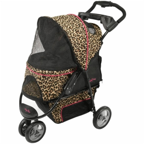 Promenade Pet Stroller, Cheetah Perspective: front