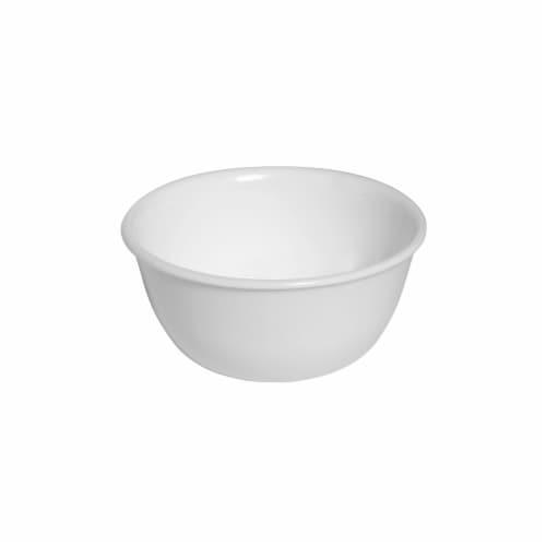 6017640 WHT 12-oz Livingware Winter Frost White Dessert Bowl - Case of 4 Perspective: front