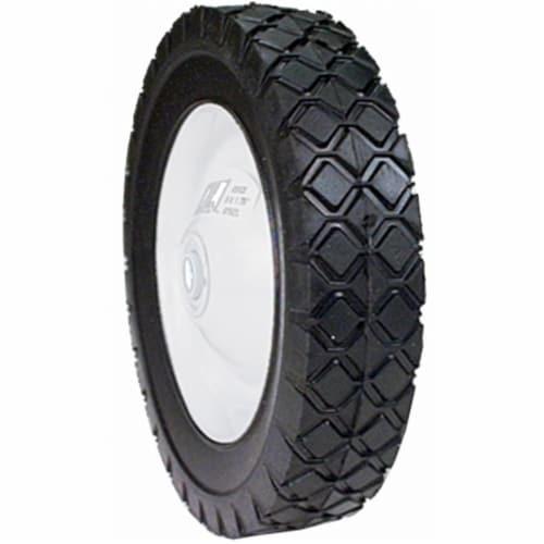 8in. x 1.75in.  Steel Lawn Mower Wheel Perspective: front