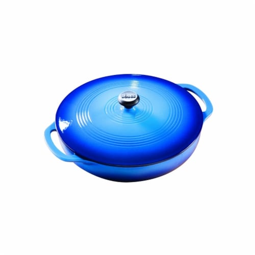 3 Quart Caribbean Blue Covered Casserole Dish Perspective: front