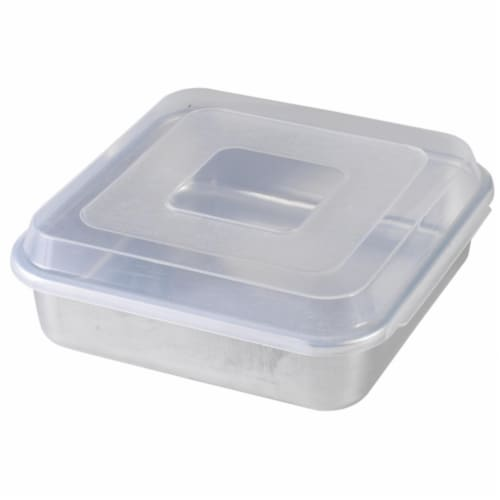 9 in. X 9 in. Square Cake Pan With Lid Perspective: front