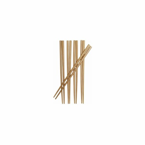 9 in. Burnished Bamboo Chopsticks Perspective: front