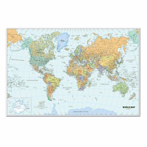 Us & World Maps Laminated World Map 38X25 Perspective: front