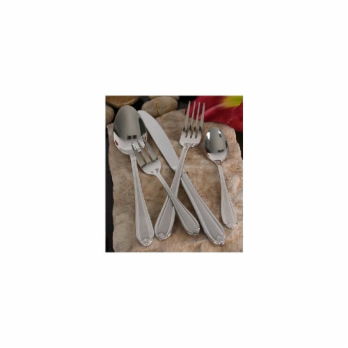 18-10 Stainless Steel And Satin  84 Piece Flatware Set Perspective: front