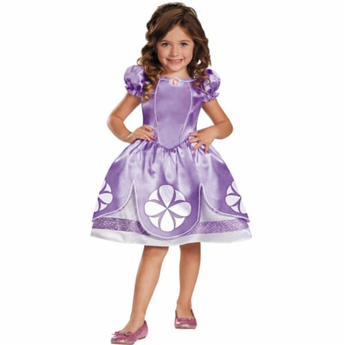 Sofia The First Child Costume, Size 4-6 Perspective: front