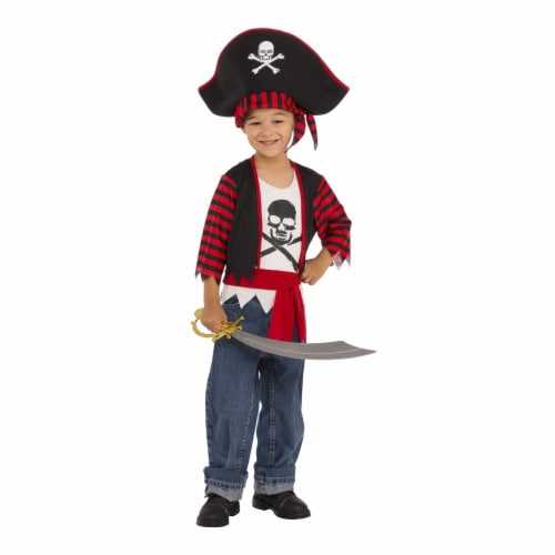 Little Pirate Child Costume, Medium - Size 8-10 Perspective: front