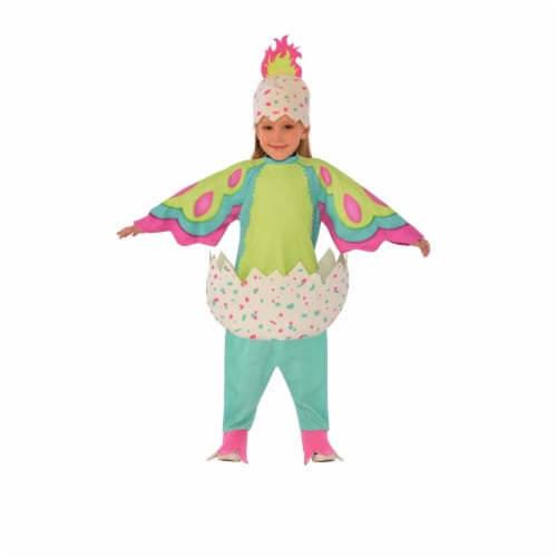 Pengualas Hatchimal Costume, Pink & Teal - 4-6 Perspective: front