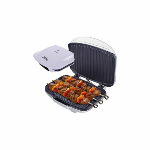 Grill Champ Contact Grill 4 Servings, White Perspective: front