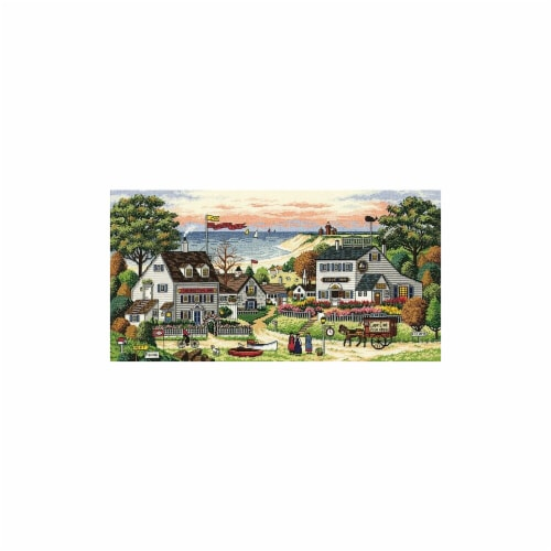 Gold Collection Cozy Cove Counted Cross Stitch Kit-18''X9'' 18 Count Perspective: front
