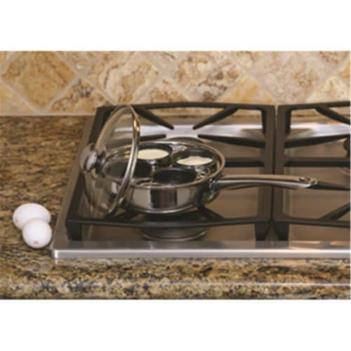 Steel 4 Egg Poacher Non Stick Perspective: front