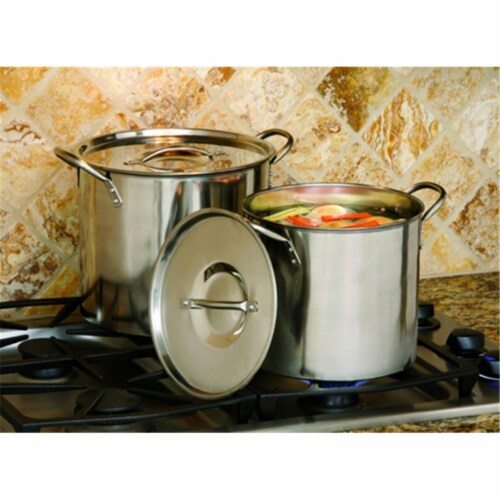 Steel Stockpot 8 Quart and 12 Quart Perspective: front