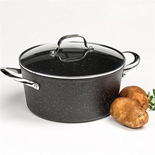 Casserole 6 qt. With Glass Lid Stainless Steel & Handle Perspective: front