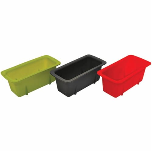 Silicone Mini Loaf Pans, Set of 3 Perspective: front