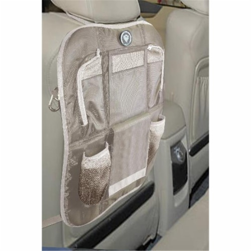 Backseat Organizer - Brown-Tan Perspective: front