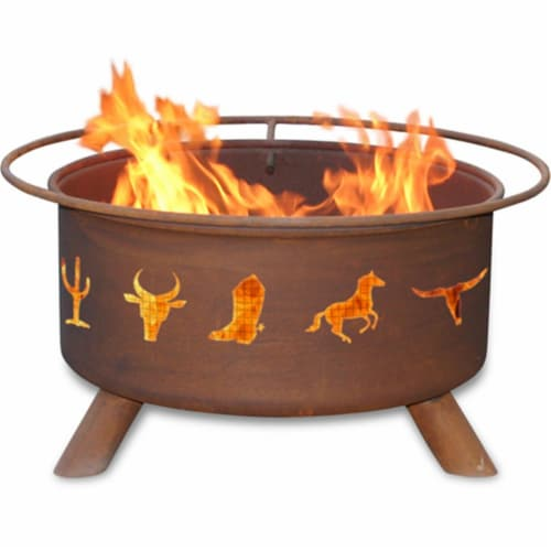 Western Cowboy Fire Pit Perspective: front