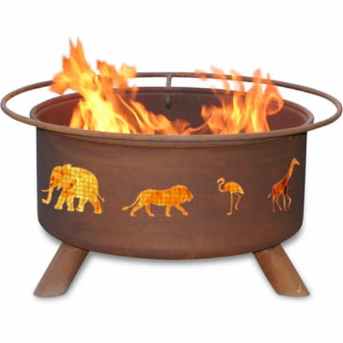 Safari Fire Pit Perspective: front