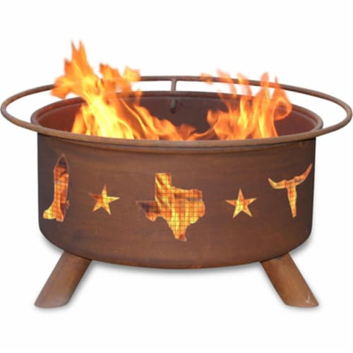 Lone Star - Texas Fire Pit Perspective: front