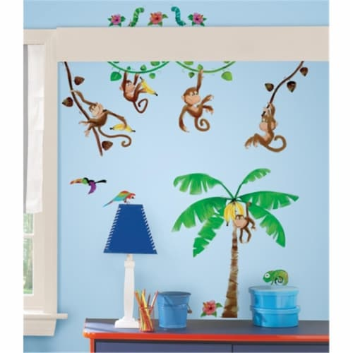 Morrow Monkeys Peel and Stick Wall Decals Perspective: front