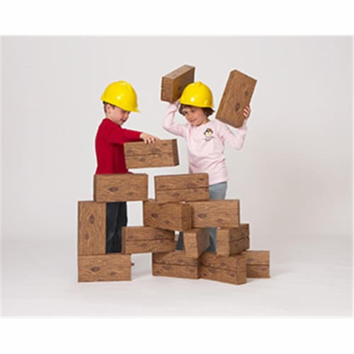 16Pc Giant Timber Blocks Perspective: front