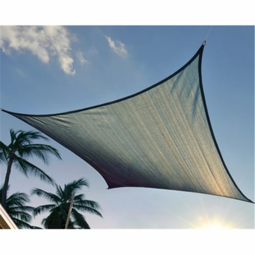 16 ft. - 4 9 m Square Shade Sail - Sea 230 gsm Perspective: front