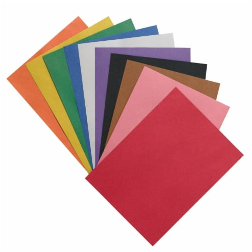 12 x 18 in. Heavyweight Construction Paper, Assorted - Pack of 100 Perspective: front