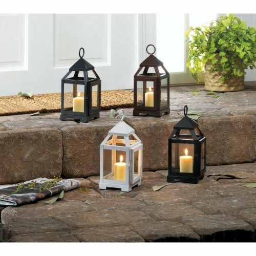 Mini Contemporary Candle Lantern, Silver Perspective: front