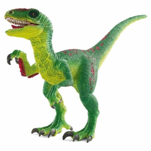 Dinosaurs Velociraptor Schleich, Green Perspective: front