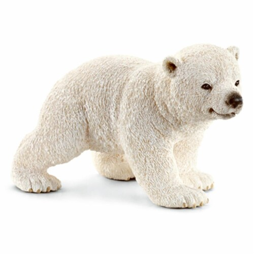 Walking Polar Bear Cub Toy Figure - White Perspective: front