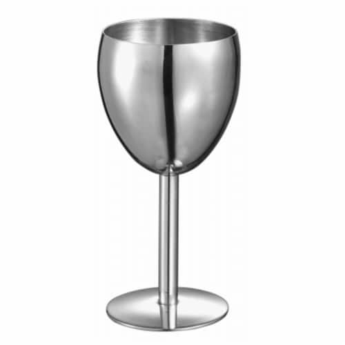 Antoinette Stainless Steel Wine Glass Perspective: front