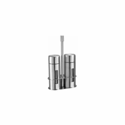 Gilberte Stainless Steel Salt and Pepper Shaker Set Perspective: front