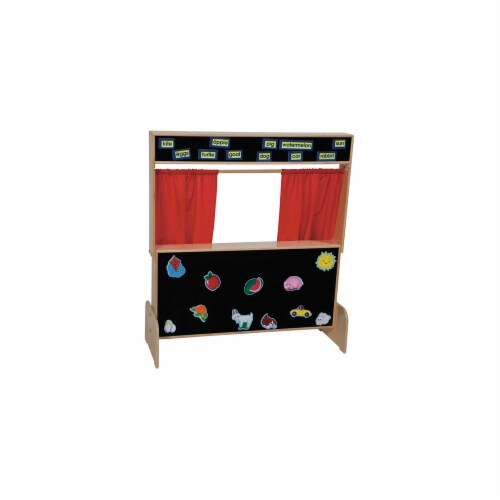 Deluxe Puppet Theater With Flannelboard Perspective: front